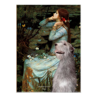 Irish Wolfhound 6 - Ophelia Seated Poster