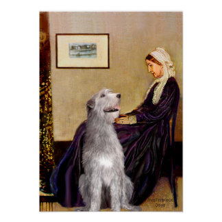 Irish Wolfhound 6 - Whistler's Mother Poster