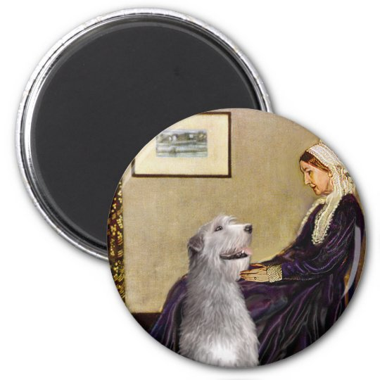Irish Wolfhound 6 - Whistlers Mother 6 Cm Round Magnet
