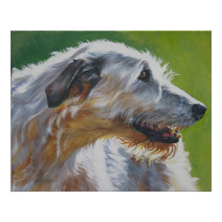 irish wolfhound Art Print poster