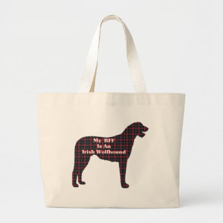 Irish Wolfhound BFF Gifts Large Tote Bag