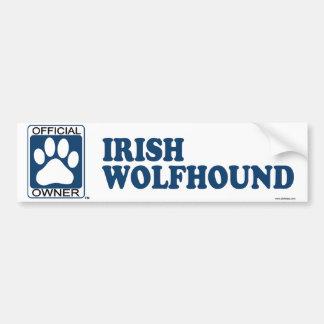 Irish Wolfhound Blue Bumper Sticker