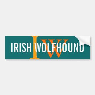 Irish Wolfhound Breed Monogram Bumper Sticker