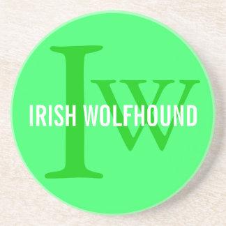 Irish Wolfhound Breed Monogram Drink Coaster