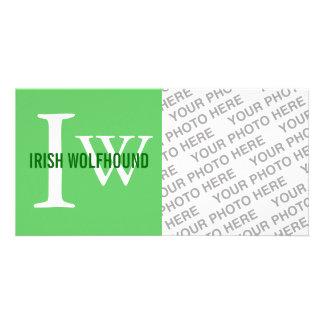 Irish Wolfhound Breed Monogram Personalized Photo Card