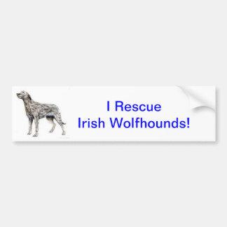 Irish Wolfhound Car Bumper Sticker