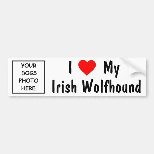 Irish Wolfhound Bumper Sticker