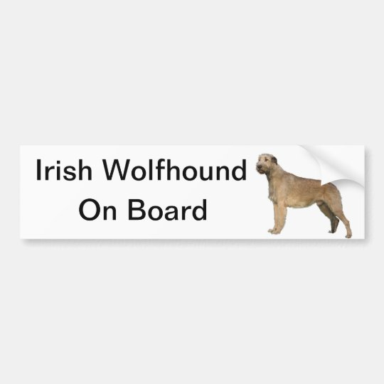 irish wolfhound bumpersticker bumper sticker