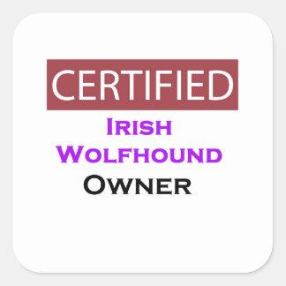 Irish Wolfhound Certified Owner Square Sticker