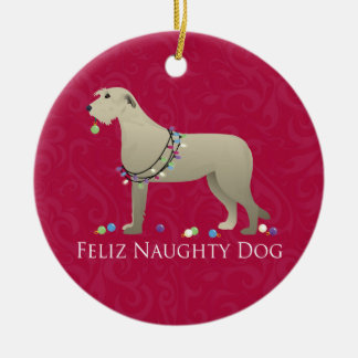 Irish Wolfhound Christmas Design Christmas Ornament