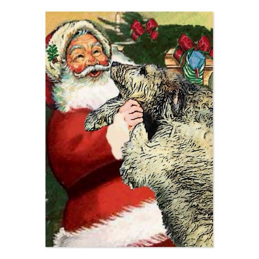 Irish Wolfhound Christmas Gifts Pack Of Chubby Business Cards