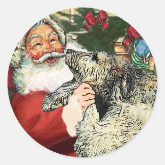 Irish Wolfhound Christmas Gifts Round Sticker