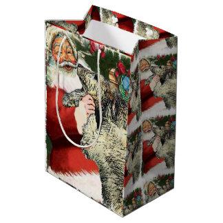 Irish Wolfhound Christmas Medium Gift Bag