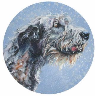 irish wolfhound Christmas Ornament Photo Cut Outs