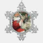 Irish Wolfhound Christmas Snowflake Pewter Christmas Ornament