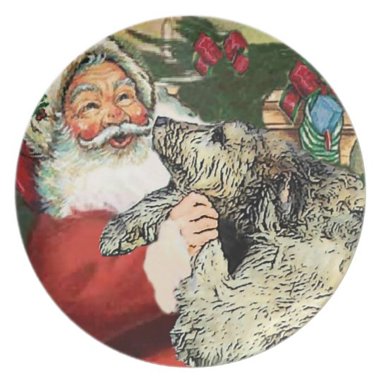 Irish Wolfhound Christmas Plate