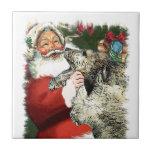 Irish Wolfhound Christmas Tile