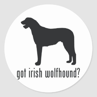 Irish Wolfhound Classic Round Sticker
