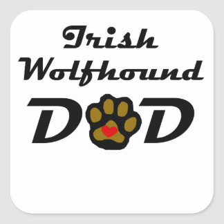 Irish Wolfhound Dad Square Stickers