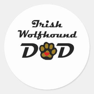 Irish Wolfhound Dad Stickers