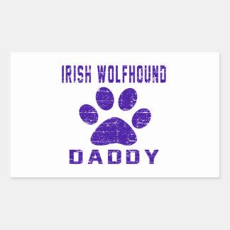 Irish Wolfhound Daddy Gifts Designs Rectangular Sticker
