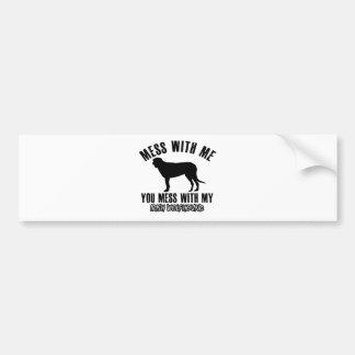 irish wolfhound design bumper sticker