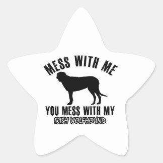 irish wolfhound design sticker