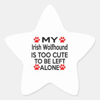 Irish Wolfhound Designs Star Sticker