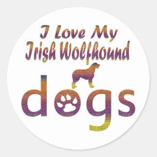 Irish Wolfhound designs Round Sticker