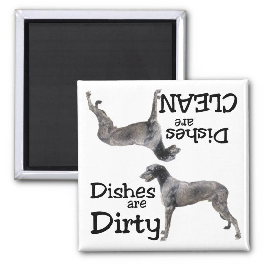 Irish Wolfhound Dishwasher Magnet