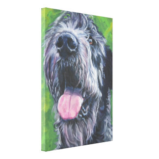 Irish Wolfhound Dog Art on Wrapped Canvas Stretched Canvas Prints
