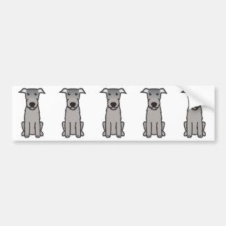 Irish Wolfhound Dog Cartoon Bumper Sticker