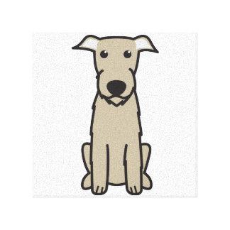Irish Wolfhound Dog Cartoon Canvas Prints