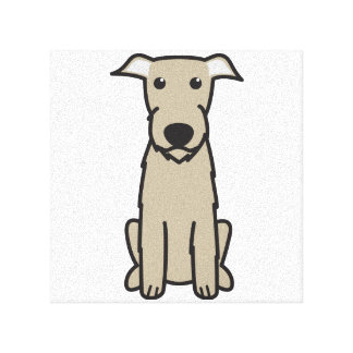 Irish Wolfhound Dog Cartoon Canvas Prints