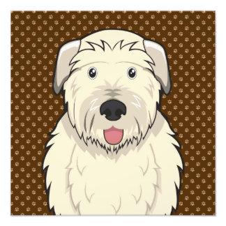 Irish Wolfhound Dog Cartoon Paws Art Photo