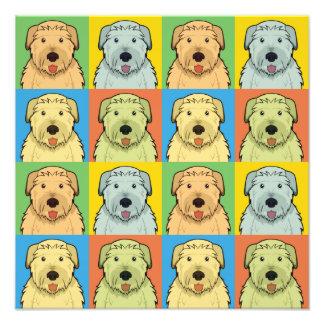 Irish Wolfhound Dog Cartoon Pop-Art Photo Art