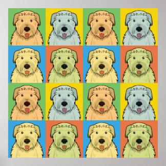 Irish Wolfhound Dog Cartoon Pop-Art Posters