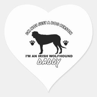 Irish Wolfhound Dog Daddy Sticker