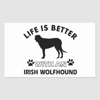 Irish Wolfhound Dog designs Rectangular Sticker