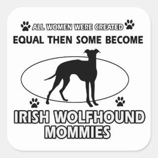 Irish wolfhound Dog Designs Square Sticker