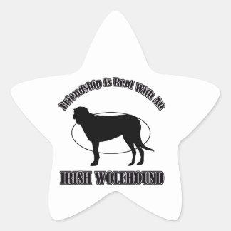 IRISH WOLFHOUND DOG DESIGNS STAR STICKER