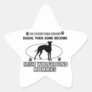 Irish wolfhound Dog Designs Sticker