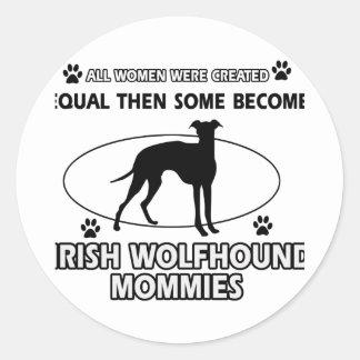 Irish wolfhound Dog Designs Round Sticker