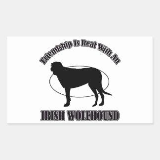 IRISH WOLFHOUND DOG DESIGNS RECTANGULAR STICKERS