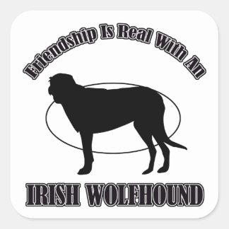 IRISH WOLFHOUND DOG DESIGNS SQUARE STICKERS
