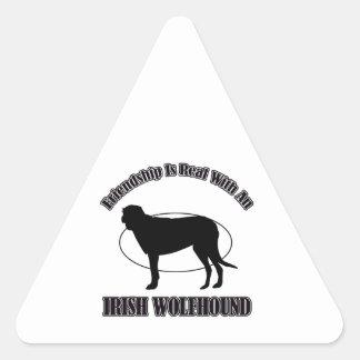 IRISH WOLFHOUND DOG DESIGNS TRIANGLE STICKER