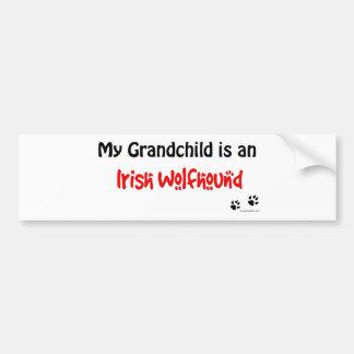 Irish Wolfhound Grandchild Bumper Sticker