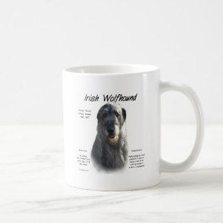 Irish Wolfhound (grey) History Design Coffee Mugs