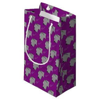 Irish Wolfhound head silhouette Small Gift Bag