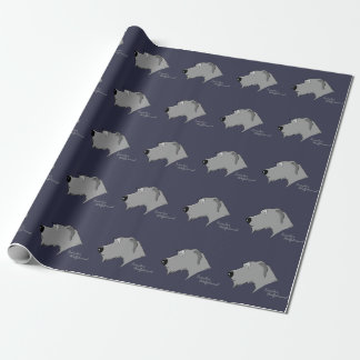 Irish Wolfhound head silhouette Wrapping Paper